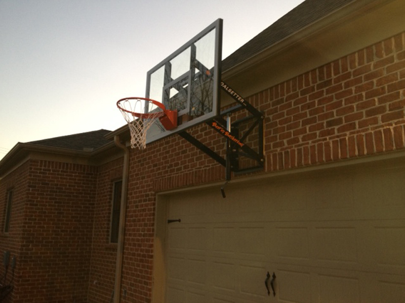 Garage wall mounted basketball hoop garage designs for Basketball garage